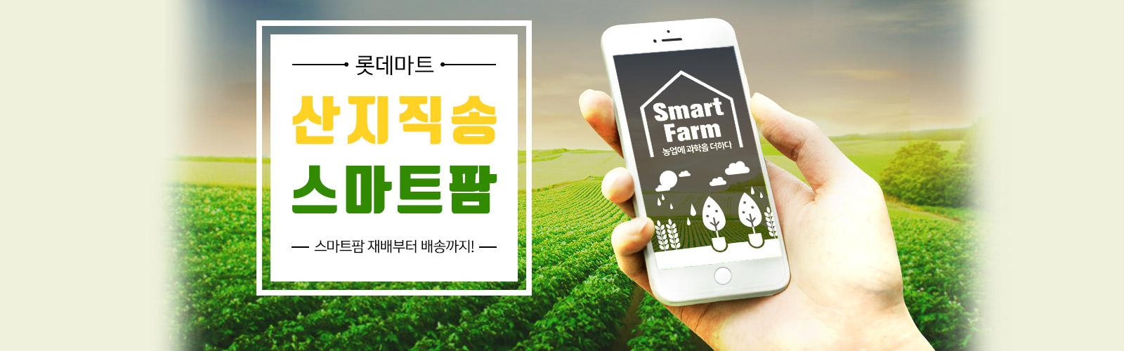 롯데마트 산지직송 스마트팜  스마트팜 재배붵 배송까지!