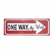 도어 사인 (ONE WAY)(28*10CM)