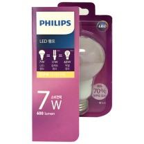 필립스 LED 전구 (전구색)(7W)