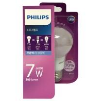 필립스 LED 전구 (주광색)(7W)