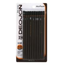 문화 더존 연필 (4B)(10입)
