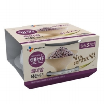 씨제이 작은햇반 흑미밥(130G*3입)