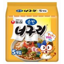 농심 너구리 순한맛(5개)