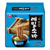 농심 메밀소바맛면(5개)