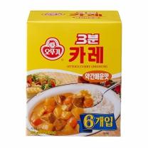 오뚜기 3분 카레 약간매운맛(200G*6입)
