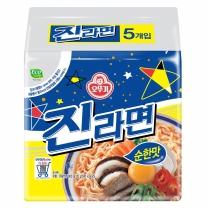 ♣ 오뚜기 진라면 순한맛(5개)