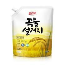 트리오 곡물설거지 쌀겨 리필(2.3L)