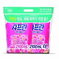 샤프란 리필 기획 (핑크)(2.1L*2입)