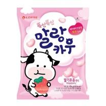 롯데 말랑카우 딸기우유맛(158G)