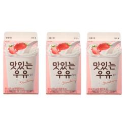 남양 맛있는우유 딸기(180ML*3입)