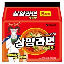 삼양라면 (매운맛)(5입)