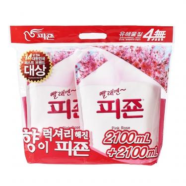 피죤 리필 (핑크로즈)(2.1L*2)