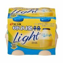 빙그레 바나나 우유 (라이트)(240ML*4입)