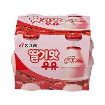 빙그레 딸기맛우유(240ML*4입)