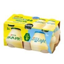 빙그레 바나나맛+라이트 기획(240ML*6입)