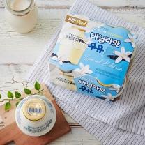 빙그레 단지우유 한정판(귤맛)(240ML*4입)