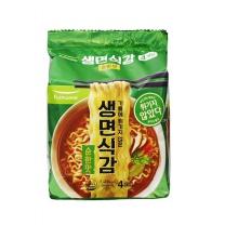 풀무원 생라면 순한맛(4개)