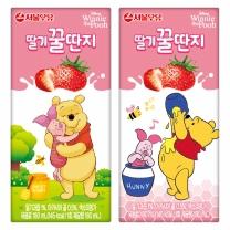 서울우유 딸기 꿀딴지 (박스)(180ML*24)