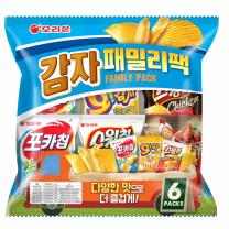 오리온 감자패밀리팩(30G*6입)