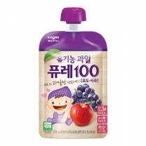 후디스 유기농과일퓨레 (포도,사과)(80G)