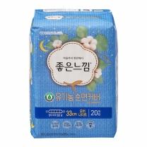 좋은느낌 유기농순면 슬림날개 (오버나이트)(20입)