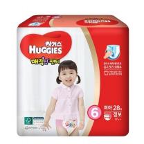 하기스 매직핏팬티(점보, 여아)(28개)