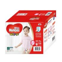 하기스 매직핏팬티 박스(특대형, 여아)(70개)