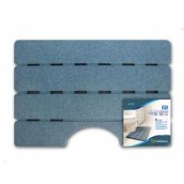 롯데 웰빙 욕실발판 (블루,중)(70*48*3.5CM)