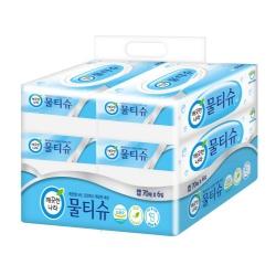 깨끗한나라 페퍼민트 물티슈 (캡형)(70매*6입)