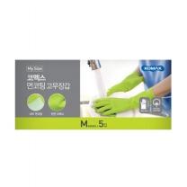 코멕스 면코팅 고무장갑(중)(5입)