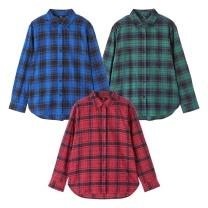 LS8401 플란넬 체크 셔츠