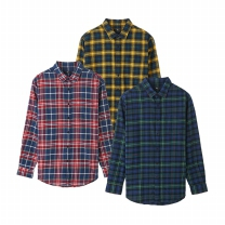 MS8403 패턴 플란넬 셔츠