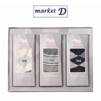 아가타 여성 캐주얼양말세트 (SAG8007)(3족) 설선물세트