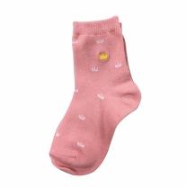보나핏 아동 핑크왕관자수양말