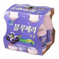 푸르밀 생과즙 블루베리 우유(225ML*4입)