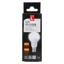 초이스엘 LED 미니크립톤 전구 (전구색)