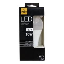 네이프 LED 전구 (전구색)(10W)