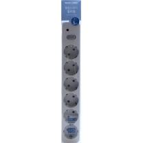 룸바이홈 통합 멀티탭 6구 (5M)