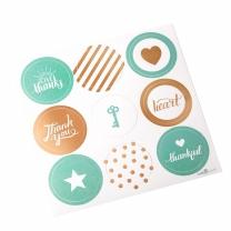 금박 민트 포장용 스티커