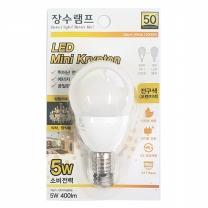 장수램프 LED 미니크립톤 (전구색/E17)(5W)