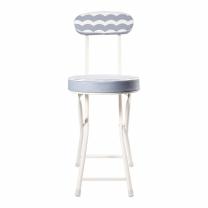 초이스엘 등받이 쿠션 접이식 의자 (블루)(300*450*740MM)