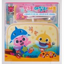 핑크퐁 스텐식판 수저세트