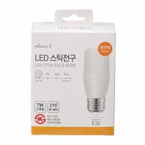 초이스엘 LED 스틱전구(전구색)(7W*2입)