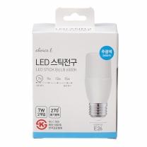 초이스엘 LED 스틱전구(주광색)(7W*2입)