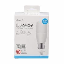 초이스엘 LED 스틱전구(주광색)(9W*2입)