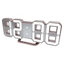 3D LED 디지털 탁상시계 (샴페인골드)(21.5*3.8*8.5CM)