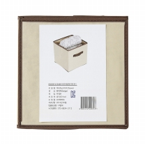 FIXA 패브릭 수납함 (베이지)(300*300*300MM)