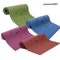 스포츠550 가이드라인 요가매트 (버건디)