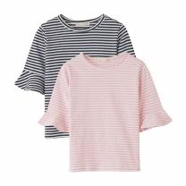 K1804NT10 7부 줄무늬 티셔츠