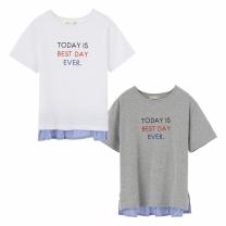K1804NT04 밑단 우븐매칭 티셔츠